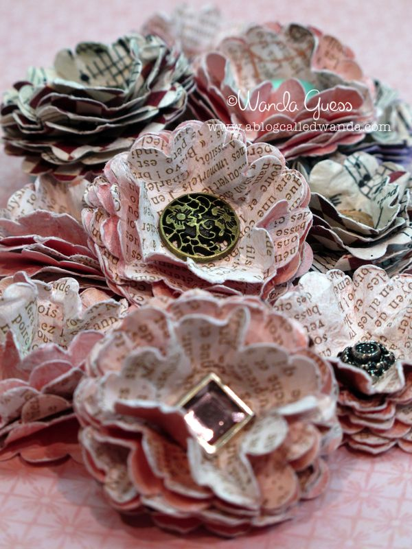 Vintage look paper flowers a blog called wanda mightylinksfo