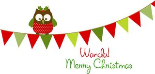 Christmas banner signature