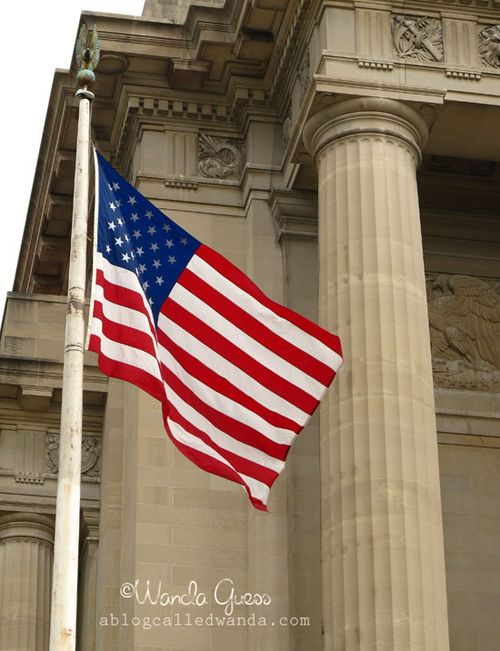 FLAG AND COLUMN