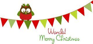 Christmas banner signature