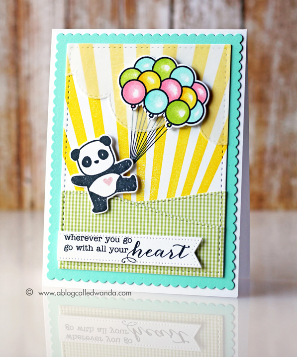 Mama Elephant Pandamonium card by Wanda Guess