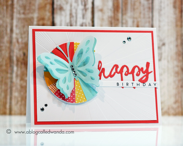 Papertrey Ink Blog Hop card by Wanda Guess June 2014