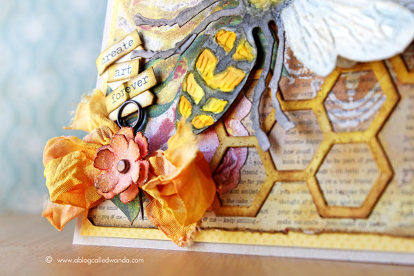 Sizzix layered bee die and honeycomb frameworks
