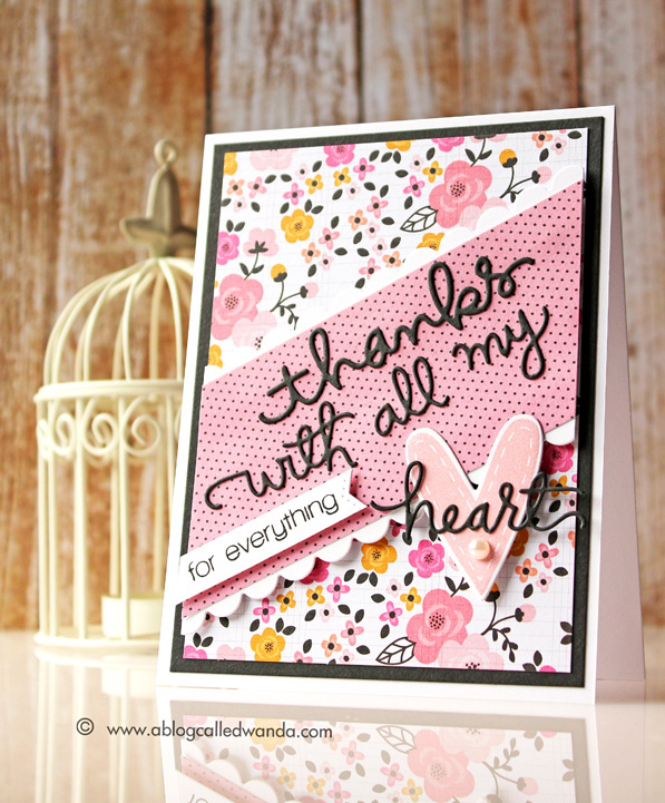 Papercrafts Magazine blog hop card by Wanda Guess. Simon Says Stamp products