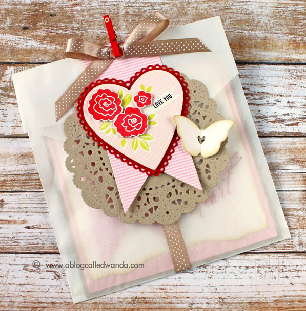 Glassine bag as a card envelope. PTI supplies, project by Wanda Guess