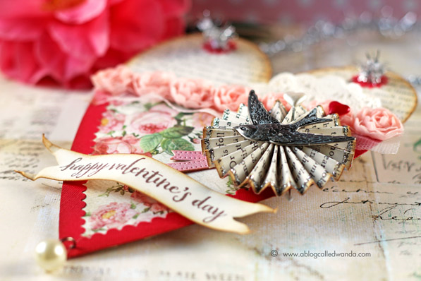 Handmade valentine vintage style by Wanda Guess