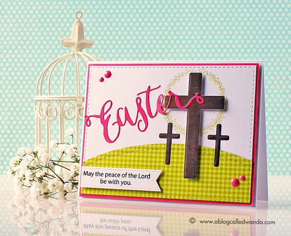 Simon Says Stamp products. Easter card by Wanda Guess