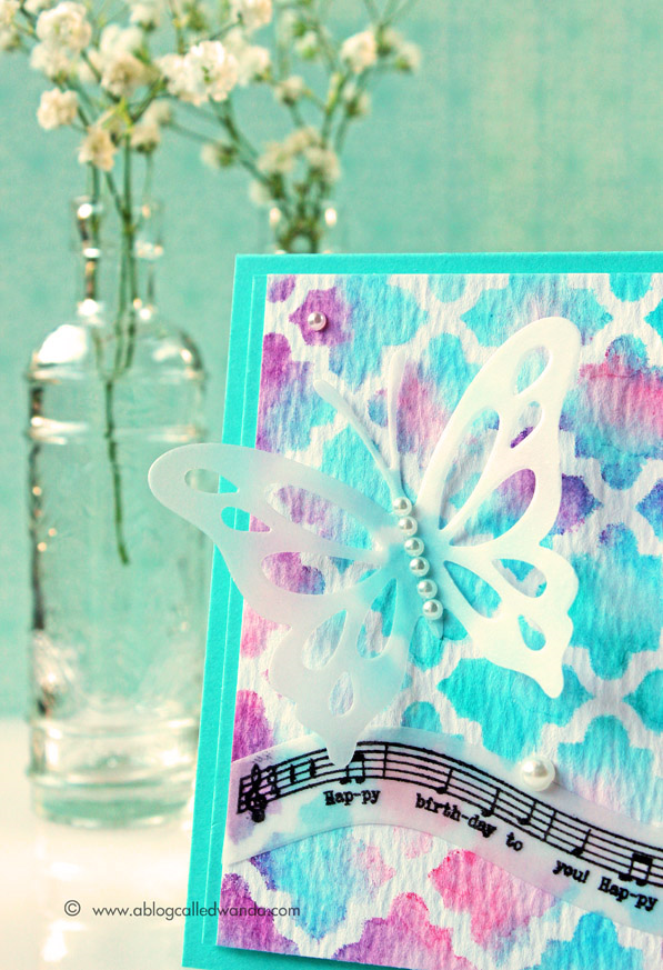 PTI butterfly - card by Wanda Guess