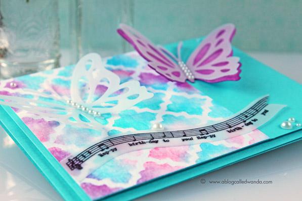 Papertrey Ink blog hop mosaic card by Wanda Guess