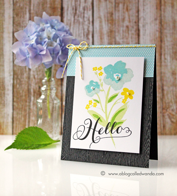 Papertrey Ink Brushed Blooms. Card by Wanda Guess