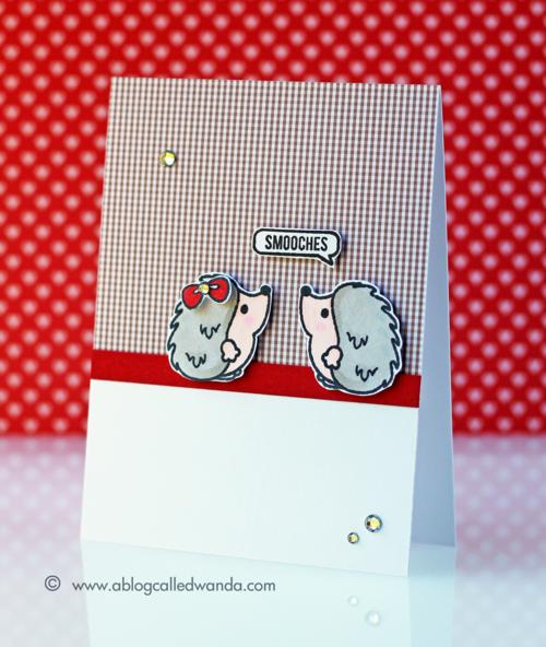 Sweet Stamp Shop Hedgehog Kiss - card by Wanda Guess