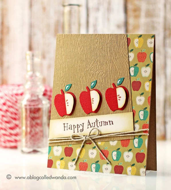Happy Autumn card by Wanda Guess