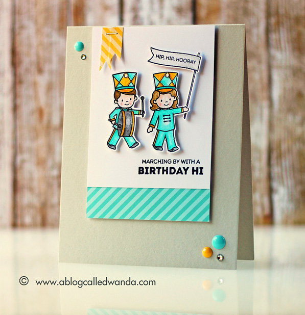 Stamptember WPlus9 limited edition stamp set. Card by Wanda Guess Band Camp  #sssfave
