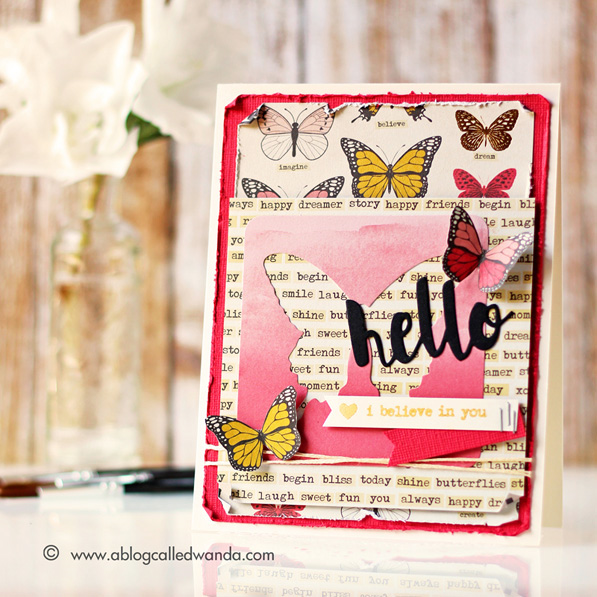 Simon Says Stamp October card kit! Card by Wanda Guess #sssfave
