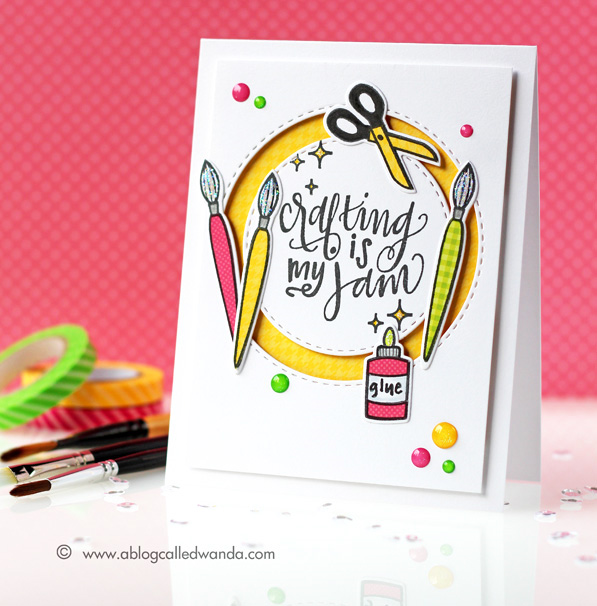 Neat and Tangled Crafting is my Jam stamp set. Card by Wanda Guess. Paper piecing challenge