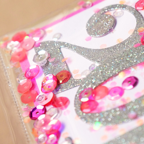 New Years Card. Using Fuse Tool and sequins. 2016 card by Wanda Guess