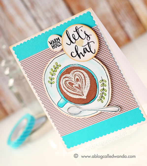 Concord & 9th Let's Chat. Coffee card by Wanda Guess