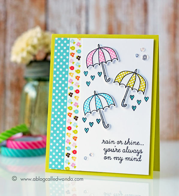 1 REVERSE CONFETTI WEATHER IT TOGETHER STAMP SET. CARD BY WANDA GUESS