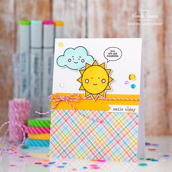 Simon Says Stamp May 2016 card kit! Card by Wanda Guess #sssfave