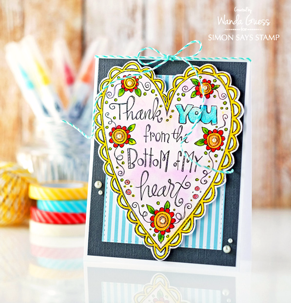 Simon Says Stamp My Favorite - new release. Spring 2016. Card by Wanda Guess. Watercolor printed cards