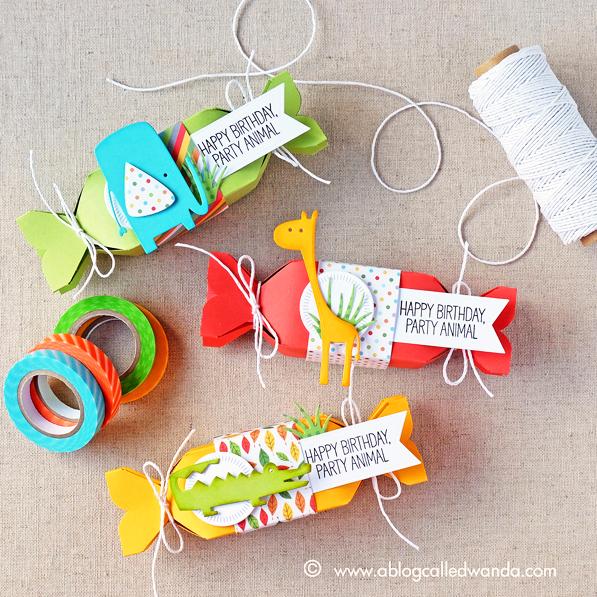 My Favorite Things Jungle Friends Card Kit. Project by Wanda Guess. MFT Jungle