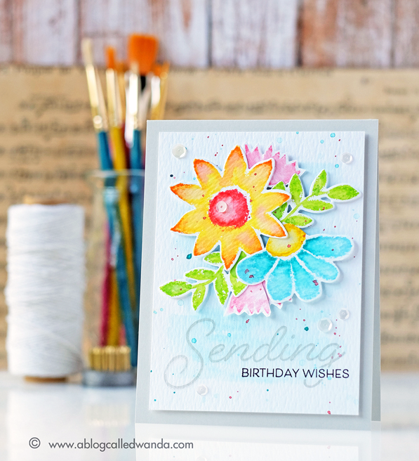 Papertrey Ink Customer Blog Hop for May 2016. Painted Petals stamp set. Card by Wanda Guess.