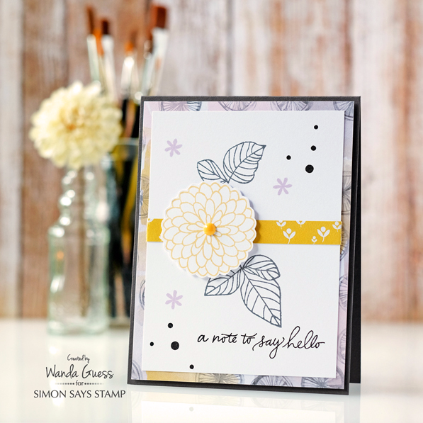 Simon Says Stamp July 2016 Card Kit. Card by Wanda Guess