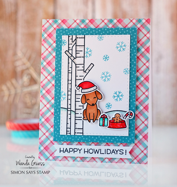 Limited Edition Simon Says Stamp and Lawn Fawn collaboration stamp set for 2016. Project by Wanda Guess. Stamptember!