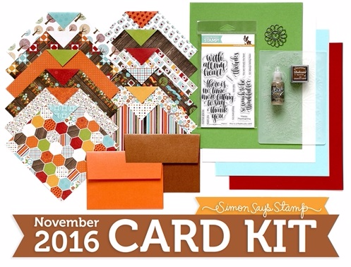 Simon Says Stamp November 2016 Card Kit