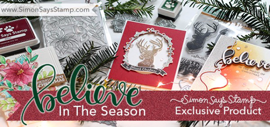 Simon Says Stamp Believe in the Season new release. Holiday 2016. Wanda Guess Blog