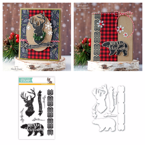 Simon Says Stamp Magical Christmas stamps and dies. Project by Wanda Guess