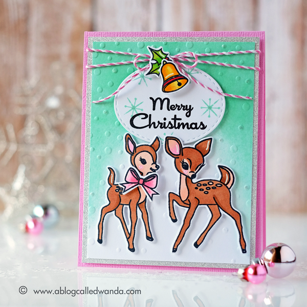 AVERY ELLE KITSCH CHRISTMAS. CARD BY WANDA GUESS
