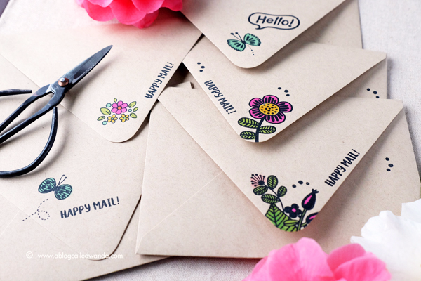 Envelope Art! Happy mail decorated envelopes.