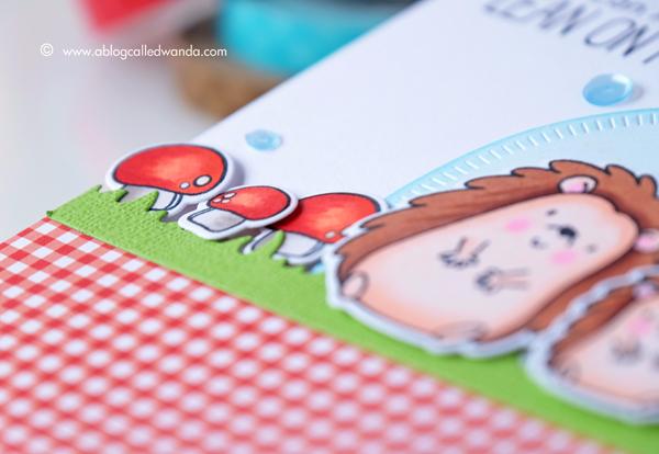Hedgehog stamps. Mushroom stamps. Copic Coloring