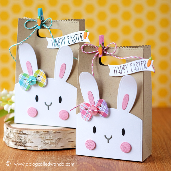 Bunny favor bags for easter a blog called wanda mama elephant favor bag and bunny dies easter treat boxes by wanda guess lawn negle Gallery
