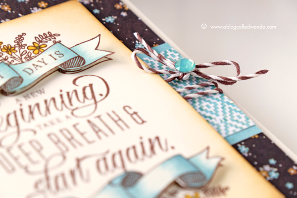 Papertrey Ink New Release Quoted Start Again stamp set. Card by Wanda Guess. PTI Design Team