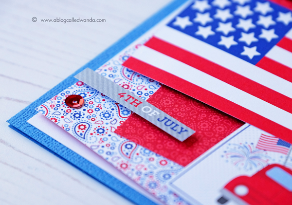 Doodlebug Yankee Doodle Collection. 4th of July Card by Wanda Guess