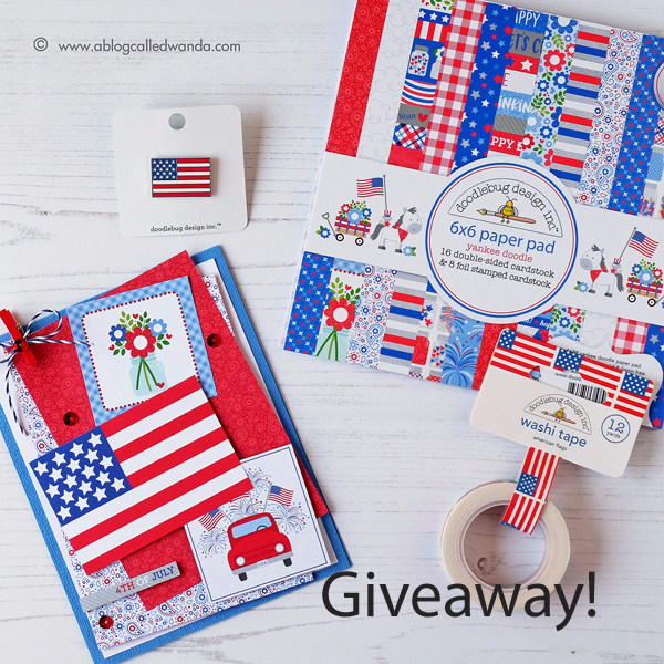 blog giveaway - Doodlebug Yankee Doodle Collection!