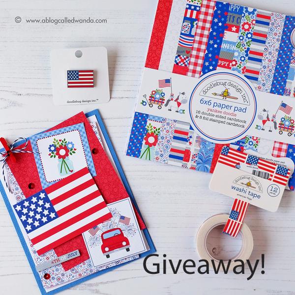 blog giveaway - Doodlebug Yankee Doodle Collection!