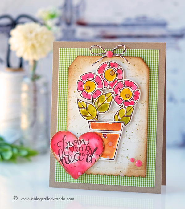 Spellbinders posies stamps and dies
