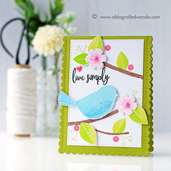 Papertrey Ink Give Love Stamp Set. PTI new release. Wanda Guess Summer card