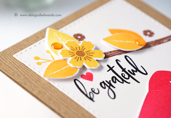 Papertrey Ink Give Love Fall card. PTI design team. new release