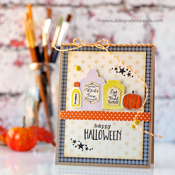 PAPERTREY INK WICKED ELIXIR STAMP SET. HALLOWEEN CARD NEW RELEASE. WANDA GUESS