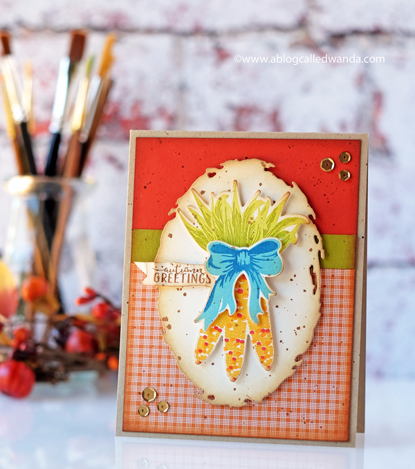 Papertrey Ink Kind of Corny Autumn card by Wanda Guess. PTI design team. New release