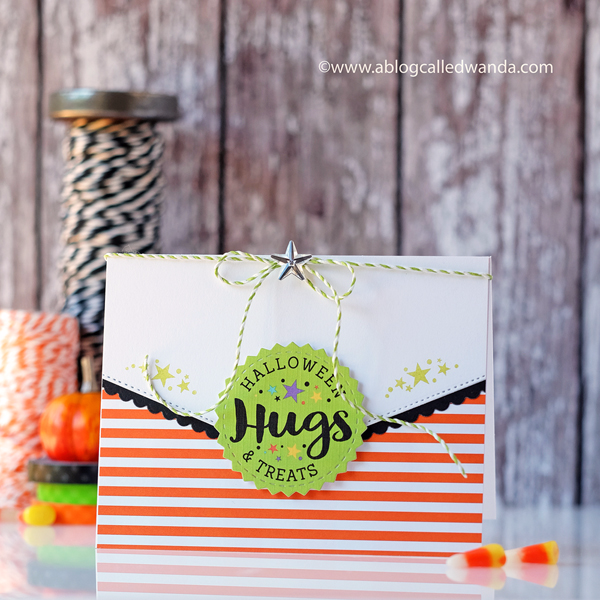 Papertrey Ink Make It Market Mini Kit  Halloween Hugs. Halloween card by Wanda Guess