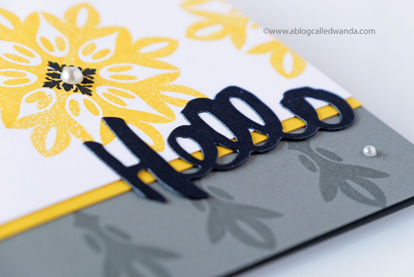 Papertrey Ink Noted Die - Hello Card by Wanda Guess