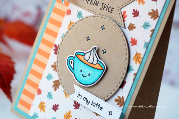 Lawn Fawn Pumpkin Spice. Coffee card by Wanda Guess