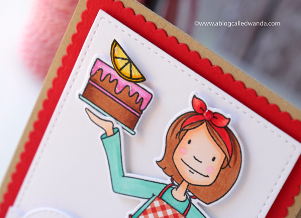 Ellen Hutson New Release - Baker Lady card by Wanda Guess