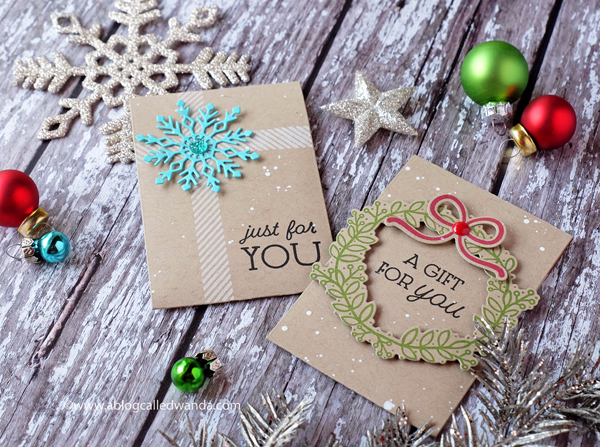 PAPERTREY INK GIFT CARD COZY COLLECTION. GIFT CARD HOLDERS. CHRISTMAS THEME. WANDA GUESS