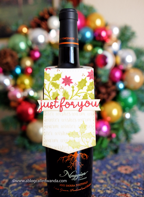 Papertrey Ink wine bottle tag gift